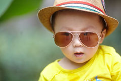 Child with sunglasses Royalty Free Stock Photography