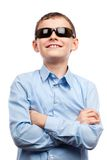 Child with sunglasses isolated on white Stock Image