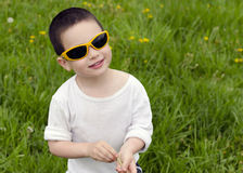 Child with sunglasses Stock Images