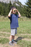 Child with sunglasses Stock Photos