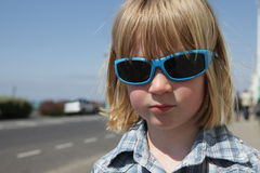 Child sunglasses vacation Royalty Free Stock Image