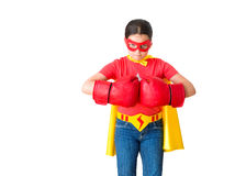 Child super hero Stock Photo