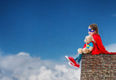 Child super hero Stock Photos