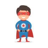 Child super hero costume Stock Photos