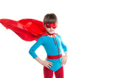 Child in superhero suit. Royalty Free Stock Photography