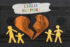 Child Support concept Royalty Free Stock Photos
