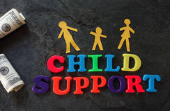 Child Support family Royalty Free Stock Images