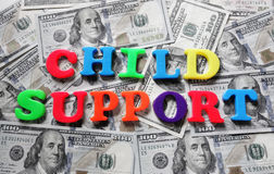 Child support payment Royalty Free Stock Image