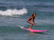 Child Surf Star. Event: China Uemura & 88 Tees 27th Annual Longboard Surfing Classic, 22.VII.11 Royalty Free Stock Photo