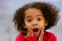 Child Surprising  Royalty Free Stock Photo