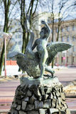 The child and the Swan - a fountain in Minsk Stock Images
