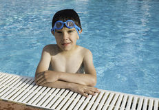 Child in swiming pool Royalty Free Stock Photo