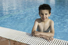 Child in swiming pool Royalty Free Stock Image