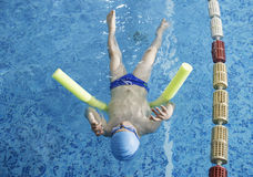 Child swimmer in swimming pool Royalty Free Stock Photography