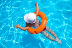 Child Swimming Royalty Free Stock Image
