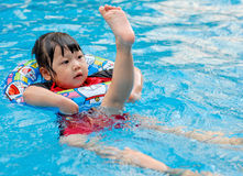 The child swimming Royalty Free Stock Photo