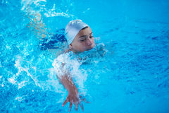 Child on swimming poo Royalty Free Stock Photos