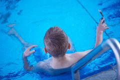 Child on swimming poo Stock Photography