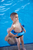 Child on swimming poo Royalty Free Stock Images