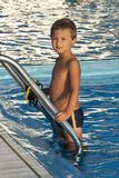 Child at swimming pool Stock Photography