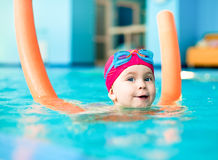 Child in a swimming pool Stock Photos