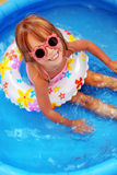 Child in swimming pool Royalty Free Stock Photos