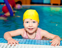 Child in a swimming pool Royalty Free Stock Photos
