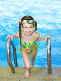 Child in swimming pool. Royalty Free Stock Images