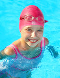 Child swimming in pool. Stock Photo