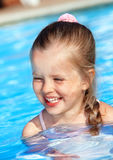 Child swimming in pool. Stock Images