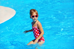 Child in swimming pool Royalty Free Stock Image