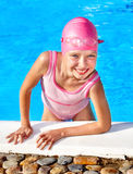 Child swimming in pool. Royalty Free Stock Photography