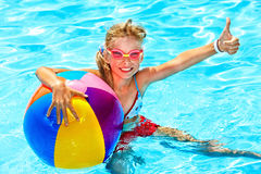 Child swimming in pool. Stock Photography