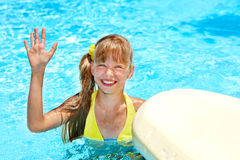 Child in swimming pool. Stock Image