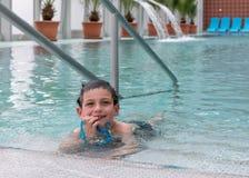 Child at swimming pool Stock Image