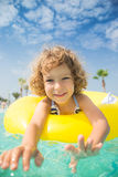 Child in swimming pool Stock Photography