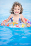 Child in swimming pool Royalty Free Stock Images