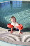 Child swimming pool portrait Royalty Free Stock Images
