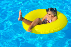 Child in swimming pool. Vacation concept Royalty Free Stock Images