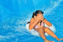 Child in swimming pool Royalty Free Stock Photo