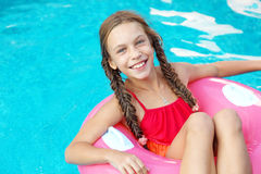 Child in the swimming pool Royalty Free Stock Images