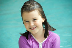 Child with swimming shirt Stock Photography
