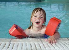 Child swimmingpool Stock Photo