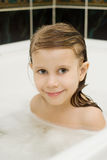 A child swims Royalty Free Stock Images