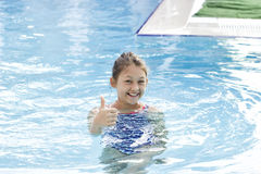 Child swims Royalty Free Stock Photos
