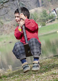 Child on swing Royalty Free Stock Images