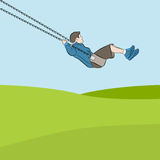 Child on Swing vector illustration