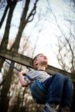 Child swinging Royalty Free Stock Image