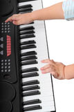 Child and synthesizer Royalty Free Stock Photo