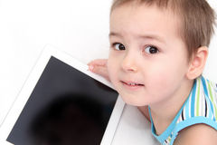 Child with tablet Stock Photography